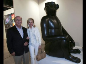 Wilbur and Hilary Ross at Art Basel Miami Beach