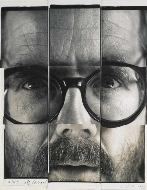 Chuck Close &quot;9-Part Self Portrait&quot; est. $50-$70K, sold $290,500. Photo: Sotheby&#039;s